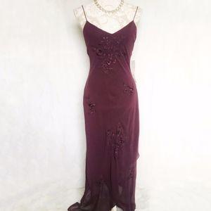 Sue Wong Nocturne // NWT Purple Floral Slip Dress